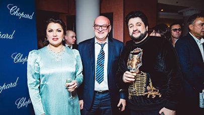 Анна Нетребко, Сталик Ханкишиев и Юсиф Эйвазов, Москва, 2 февраля 2018 года