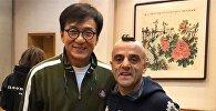 Известный азербайджанский циркач, участник американского шоу талантов America's Got Talent Узеир Новрузов встретился в Китае мировой звездой Джеки Чаном