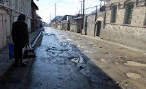 Канализационные воды на улицах Шеки