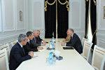 Встреча с главой представительства Евросоюза в Азербайджане Кестутисом Янкаускасом в ЦИК АР