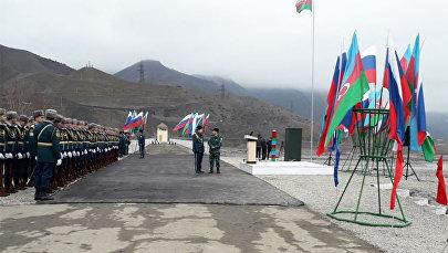 Состоялась церемония установки первых пограничных знаков на азербайджано-российской границе в четверг на территории села Зухул в Гусарском районе