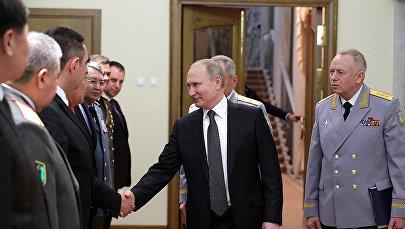Встреча президента России Владимира Путина с министрами обороны зарубежных стран