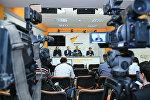 Конференции на тему Будущее азербайджано-российских отношений в мультимедийном пресс-центре Sputnik Азербайджан