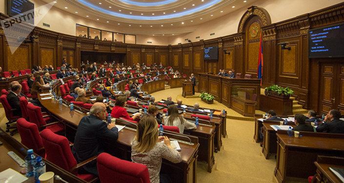 Зал заседаний парламента Армении, фото из архива