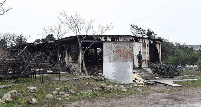 Сгоревший корпус Республиканского наркологического центра, архивное фото