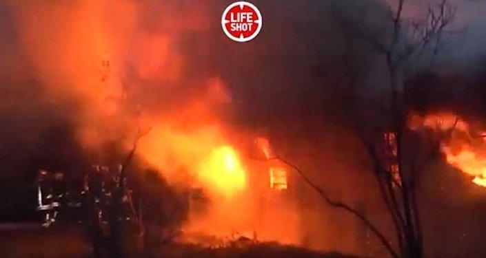 Видео. Пожар в наркоцентре Баку