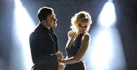 Известный исполнитель Эмин Агаларов с Полиной Гагариной