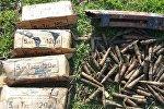 Снаряды, обнаруженные в водном канале на территории села Юхары Саламбейли Агджабединского района
