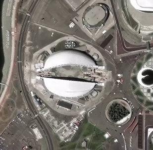 Съёмка со спутника 12 российских стадионов, где пройдёт ЧМ