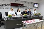 Пресс-конференция, посвященная итогам международных конкурсов кулинаров, которые прошли в Мальте и Турции