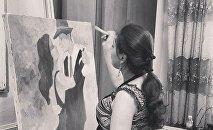 Молодая азербайджанская художница Кенуль Исмайлова