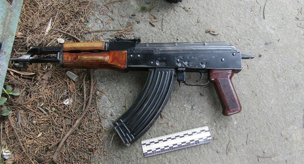 Орудие убийства Гюльгаз Мамедовой, автомат калашникова