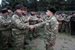 Руководство Министерства Обороны вместе с личным составом, участвующим в учениях отметило Йель Чершенбеси