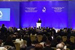 Выступление президента Имльхама Алиева на VI Глобальном бакинском форуме