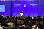 İlham Əliyev VI Qlobal Bakı Forumun açılışında iştirak edir