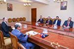 Али Гасанов на встрече с председателем Совета директоров и гендиректором агентства Анадолу Шенолом Казанджи и генеральным директором телеканала TRT Ибрагимом Эреном