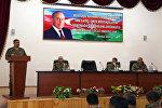 Служебное совещание по итогам широкомасштабных учений под руководством министра обороны генерал-полковника Закира Гасанова