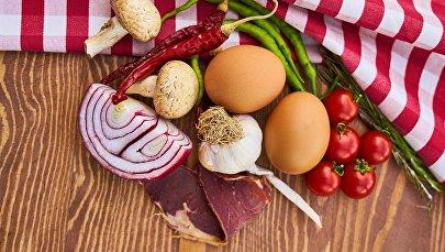 Мясо, яйца и овощи