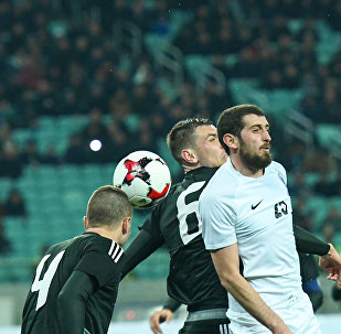 Товарищеский матч по футболу между сборными Азербайджана и Беларуси