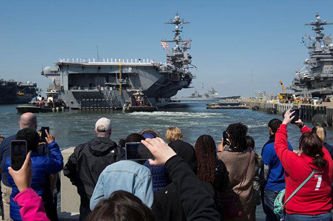 ABŞ USS Harry Truman aviadaşıyıcısı və 7 hərbi gəmisi Virciniya ştatındakı Norfolk hərbi dəniz bazasından Aralıq dənizinə yola düşüb