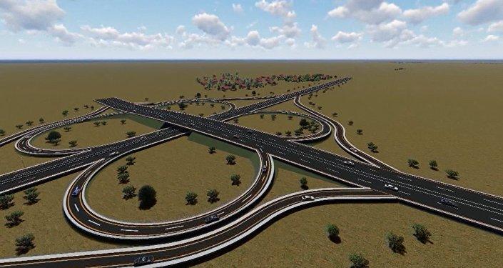 Cтроительство новой дороги M-1 Баку-Губа-граница с Российской Федерацией