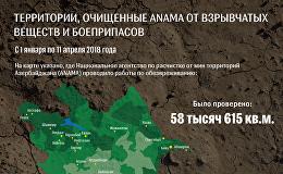 Территории, очищенные ANAMA от взрывчатых веществ и боеприпасов