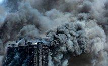 пожар в жилом здании в Баку